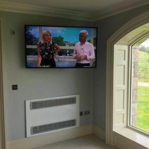 lcd install in corner